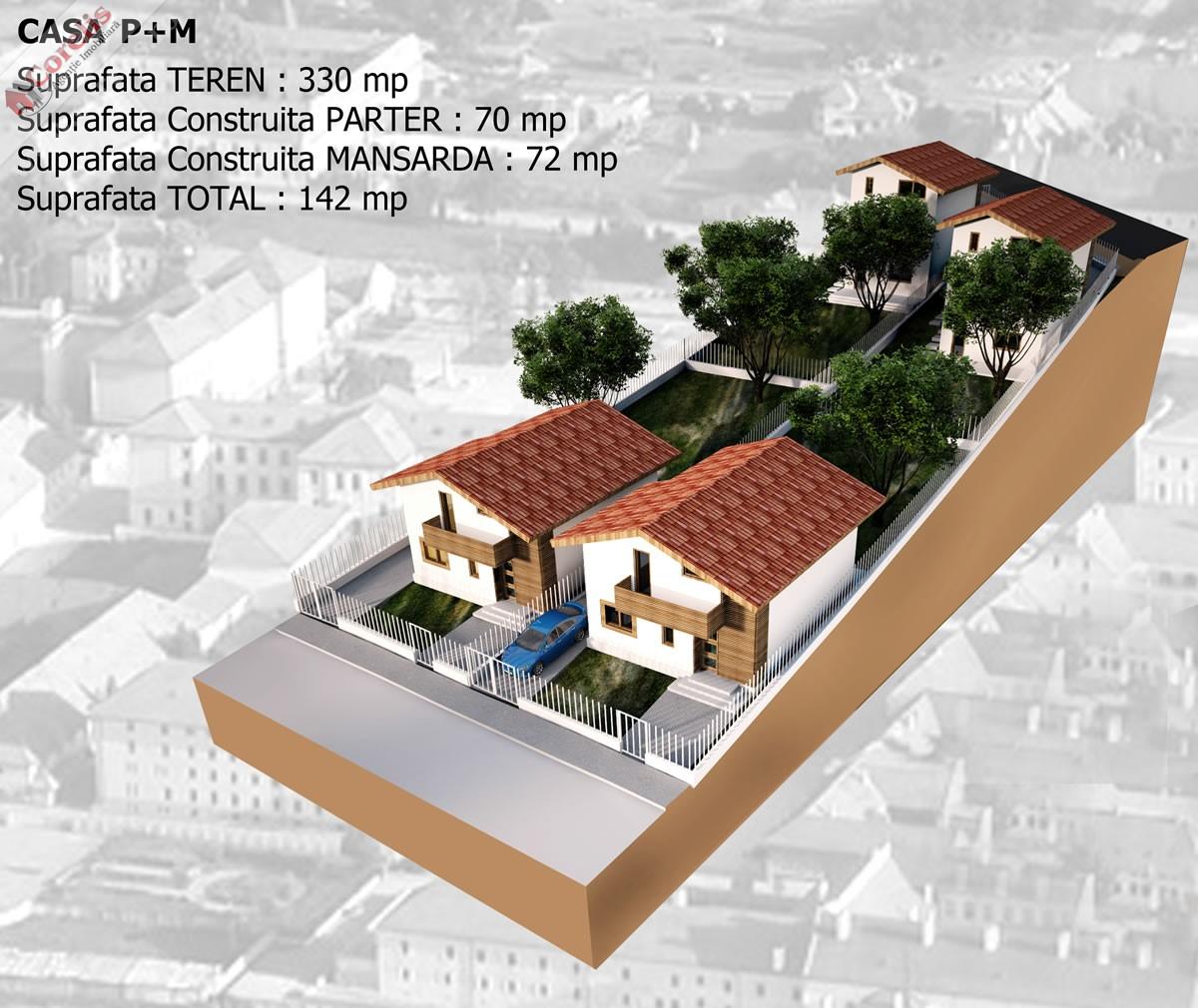 Teren cu proiect de casa